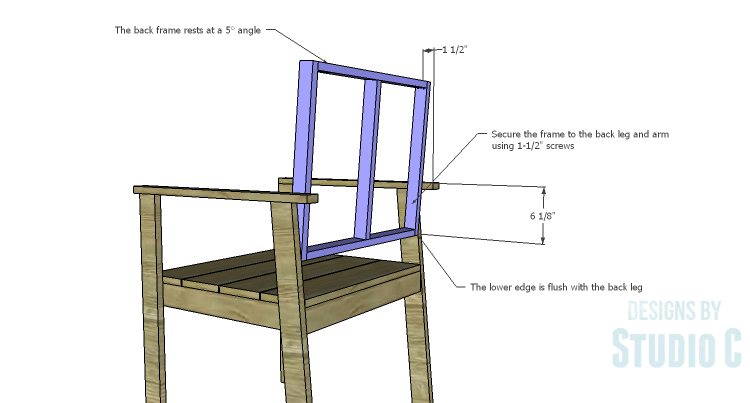 DIY Plans to Build a Quinn Outdoor Chair_Back Frame 2
