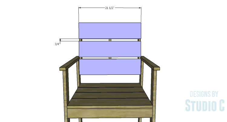 DIY Plans to Build a Quinn Outdoor Chair_Back Planks