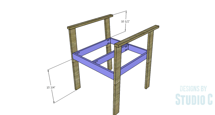 DIY Plans to Build a Quinn Outdoor Chair_Seat Frame 2
