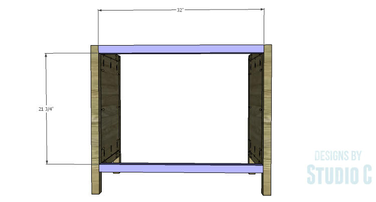 DIY Plans to Build a Brecken Dresser-Back Stretchers