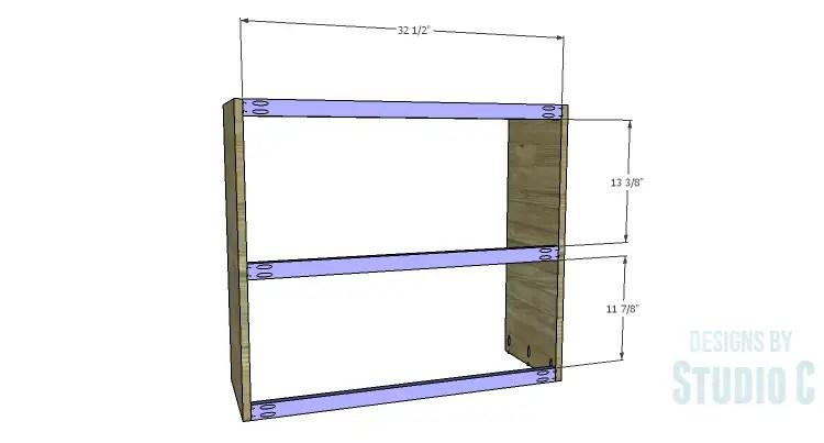 DIY Plans to Build a Brecken Dresser Hutch-Back Stretchers