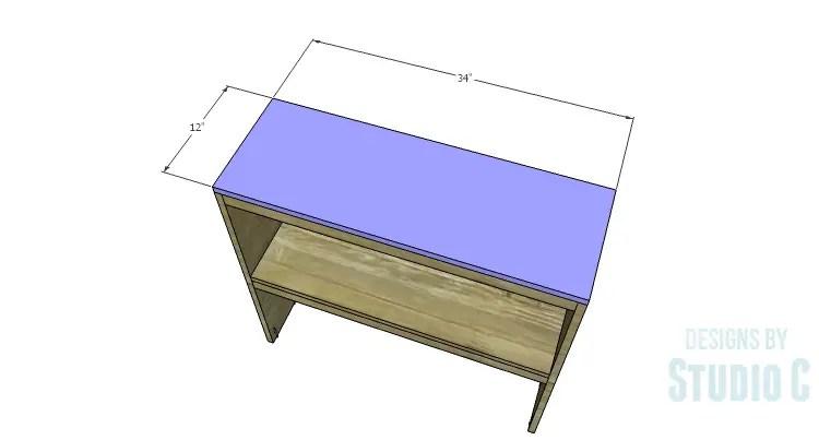 DIY Plans to Build a Brecken Dresser Hutch-Top