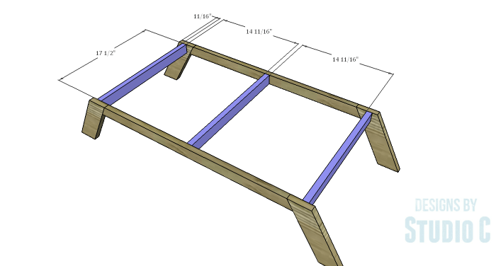 DIY Plans to Build a Brady Coffee Table-Base Stretchers