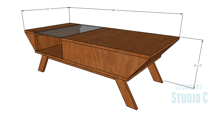 DIY Plans to Build a Brady Coffee Table