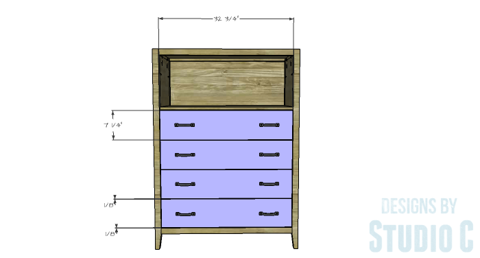 DIY Plans to Build a Braylon Chest-Drawer Fronts