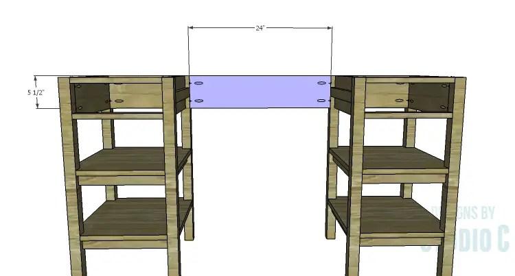 DIY Plans to Build an Open Shelf Desk-Center Back