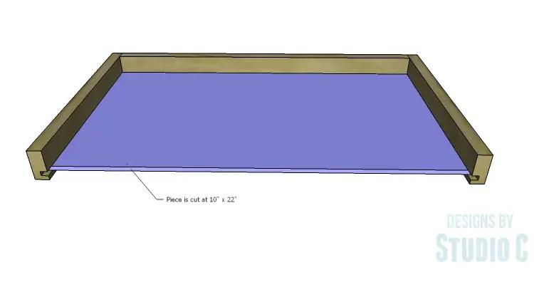 DIY Plans to Build an Open Shelf Desk-Center Drawer 3