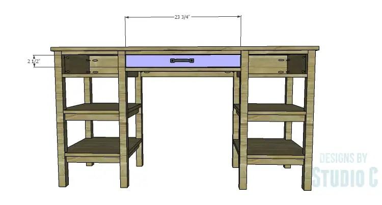 DIY Plans to Build an Open Shelf Desk-Drawer Fronts 1