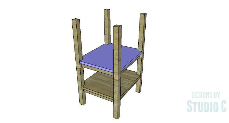 DIY Plans to Build an Open Shelf Desk-Outer Shelf 3