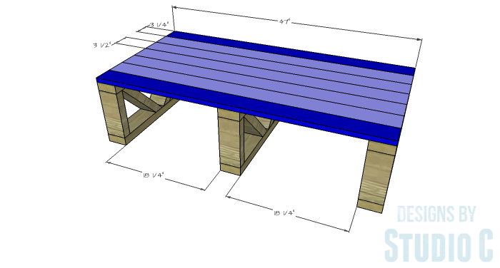 DIY Plans to Build a Westport Coffee Table-Bottom