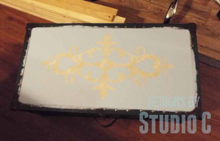 Old Trunk with a Chalk Paint Finish-Reverse Stencil