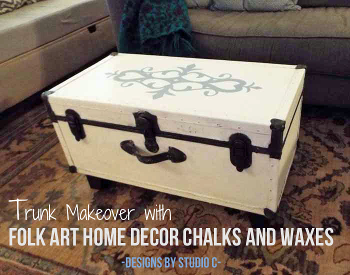 Old Trunk With A Chalk Paint Finish