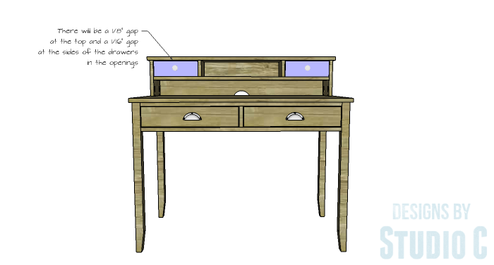 DIY Furniture Plans To Build A Mena Hutch Desk