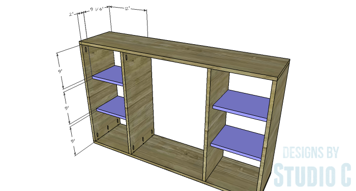 DIY Furniture Plans To Build A Zen Bookcase Or Media Stand