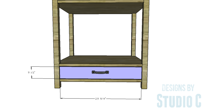 DIY Furniture Plans to Build a Blackwell Side Table-Drawer Front