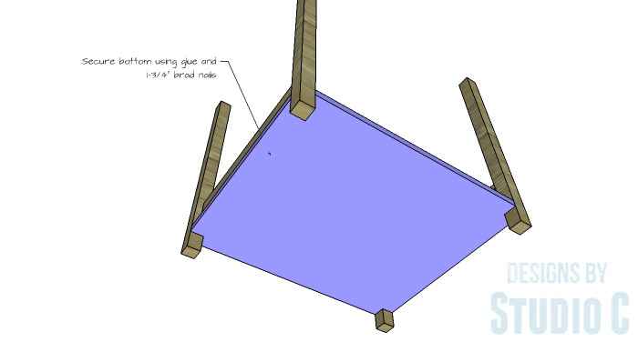 DIY Furniture Plans to Build a Blackwell Side Table-Lower Shelf 2