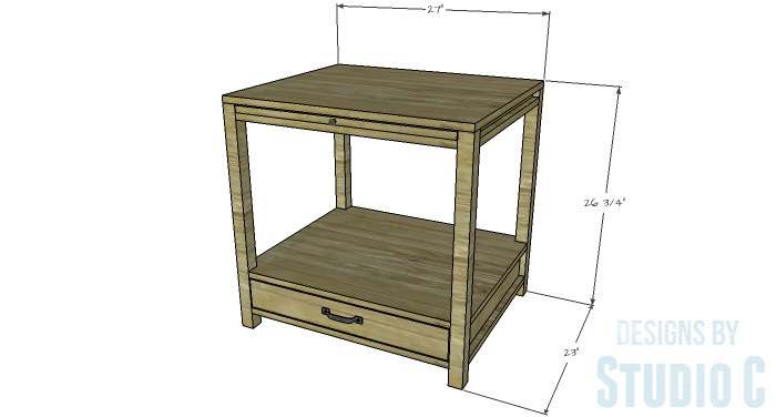 DIY Furniture Plans to Build a Blackwell Side Table