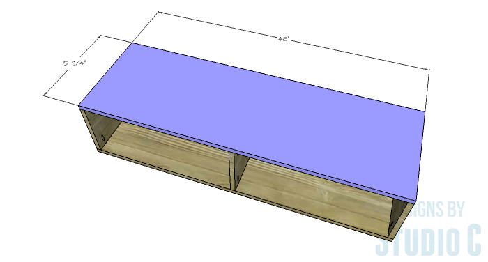 DIY Furniture Plans to Build a Contemporary Media Stand-Box 2