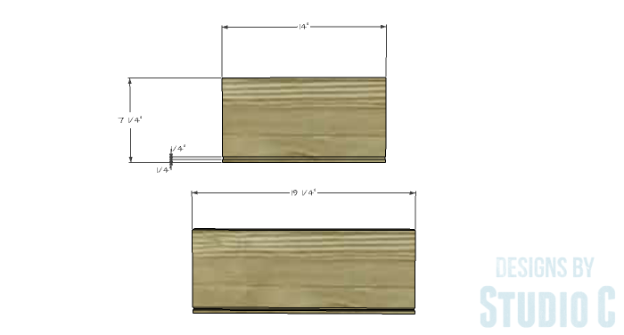 DIY Furniture Plans to Build a Contemporary Media Stand-Drawer 1