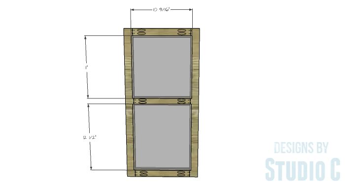 DIY Furniture Plans to Build a Swivel Top Media Cabinet-Doors 2