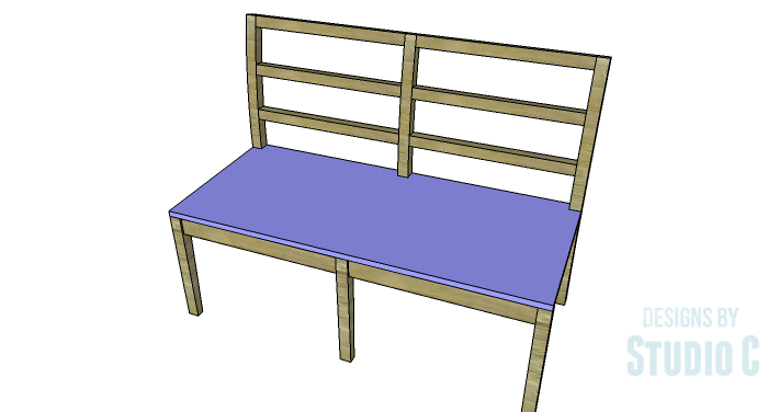 DIY Furniture Plans to Build an Anna Bench - Seat 2
