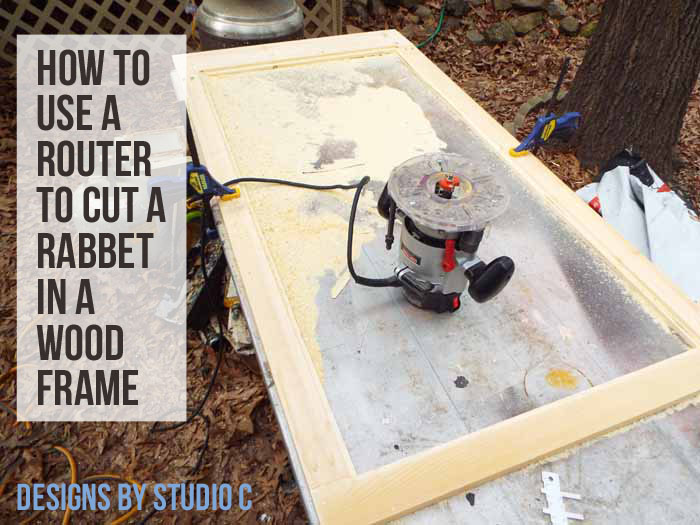 How to Use a Router to Cut a Rabbet in a Frame - Featured Image