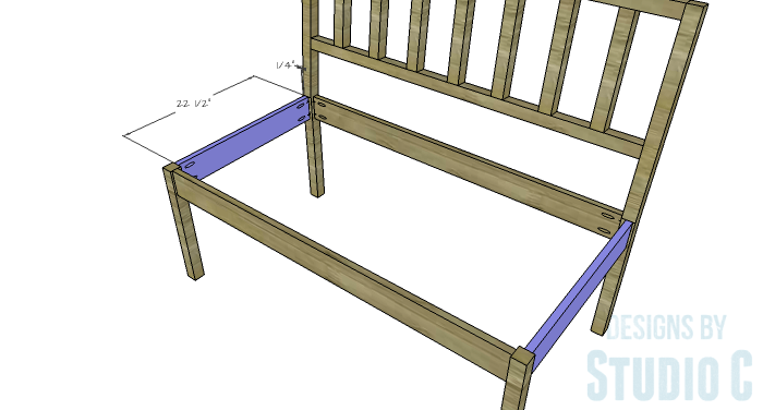 DIY Furniture Plans to Build a Maya Bench - Side Aprons