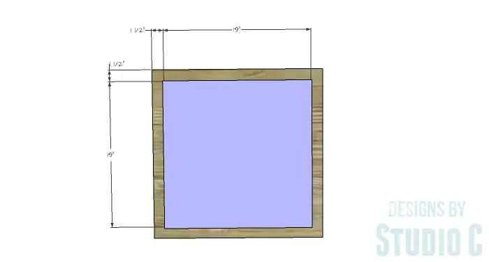 DIY Furniture Plans to Build a Mod Storage Table on Casters - Bottom Platform