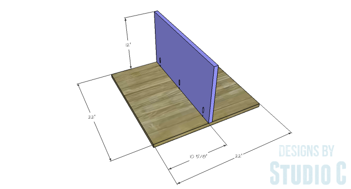 DIY Furniture Plans to Build a Mod Storage Table on Casters - Lower Shelves 1