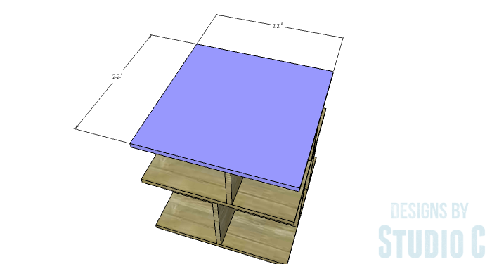 DIY Furniture Plans to Build a Mod Storage Table on Casters - Top