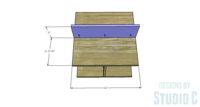 DIY Furniture Plans to Build a Mod Storage Table on Casters - Upper Shelves 1