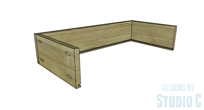 DIY Furniture Plans to Build an Open Bookcase with Drawers - Drawers 2