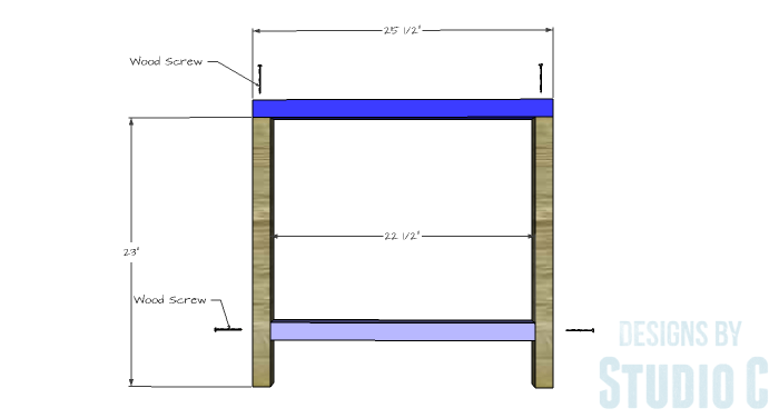 DIY Furniture Plans to Build a Modern Outdoor Chair - Side Frame
