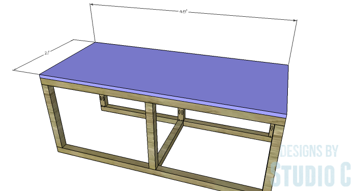 DIY Furniture Plans to Build a Coffee Table with Slide-Out Extensions - Coffee Table Top