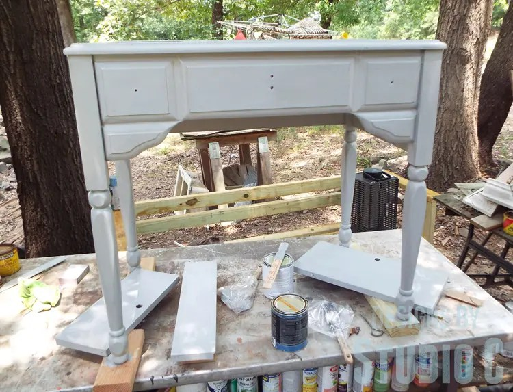 Sewing Machine Cabinet Makeover - Paint