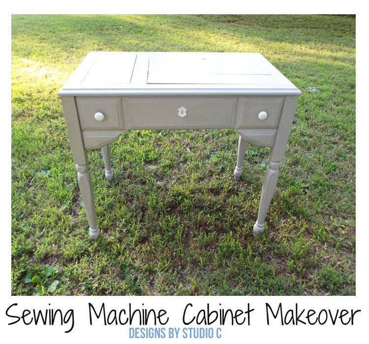 Sewing Machine Cabinet Makeover - Featured Image