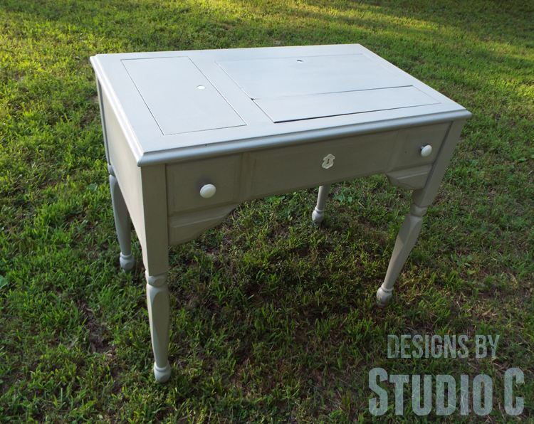 Sewing Machine Cabinet Makeover - Cabinet Side View