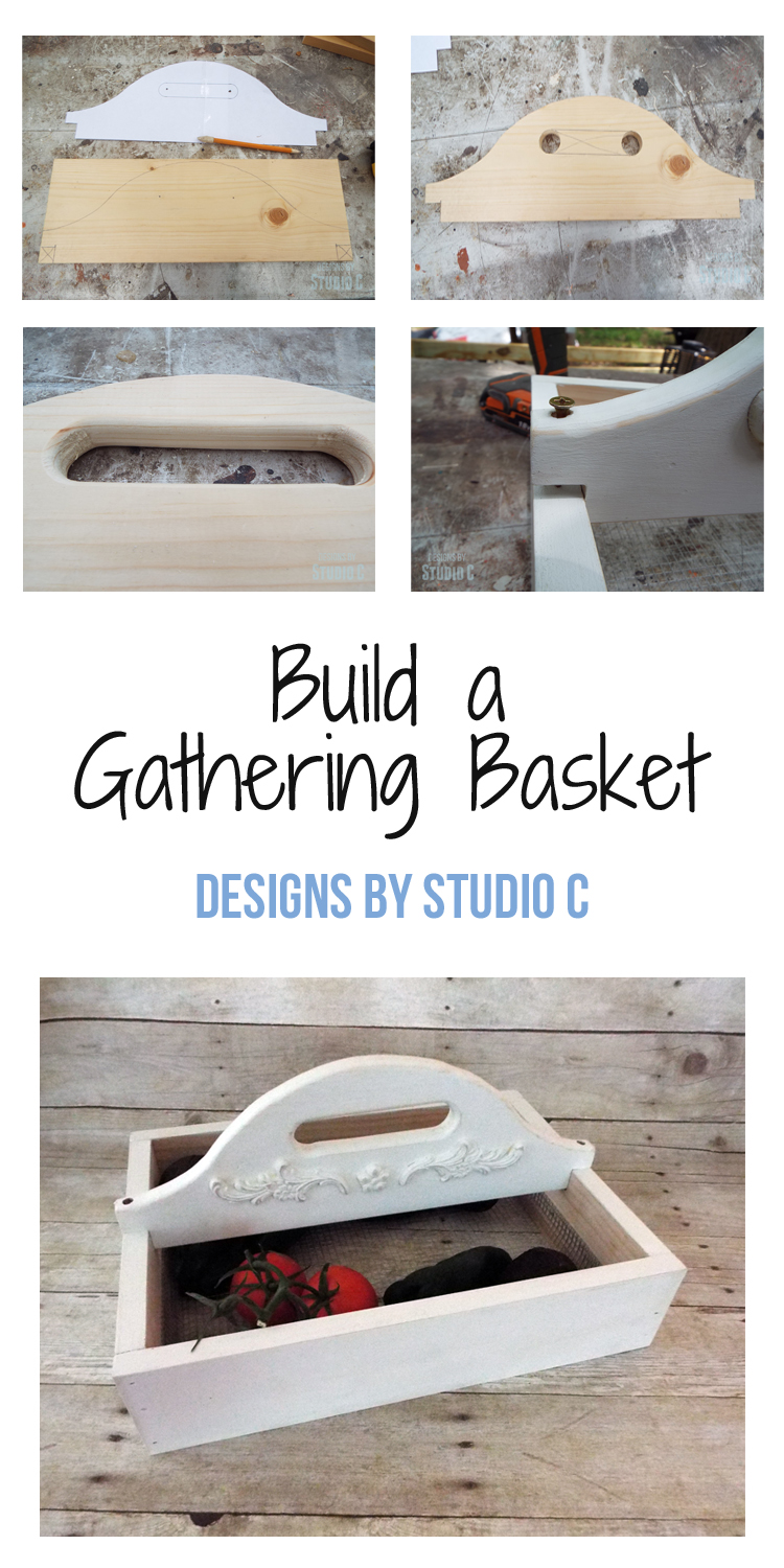 This easy to build Gathering Basket is perfect for a summer fuit and veggie harvest!