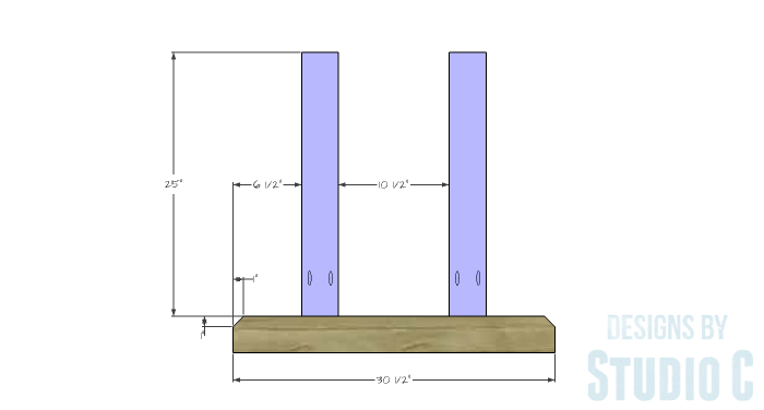 DIY Furniture Plans to Build a PB Inspired Stafford Dining Table - Side Legs 1