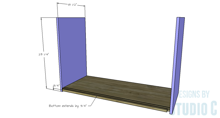 DIY Furniture Plans to Build a Stackable Cabinet - Sides