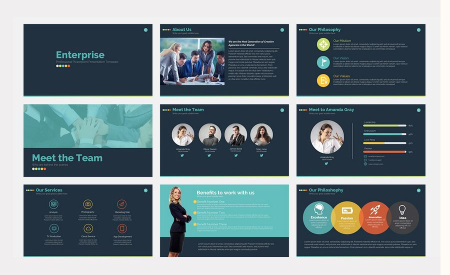 60 beautiful premium powerpoint presentation templates enterprise is a new fresh modern clean professional creative and very easy to edit powerpoint presentation pack it is based in master slides so you toneelgroepblik Gallery