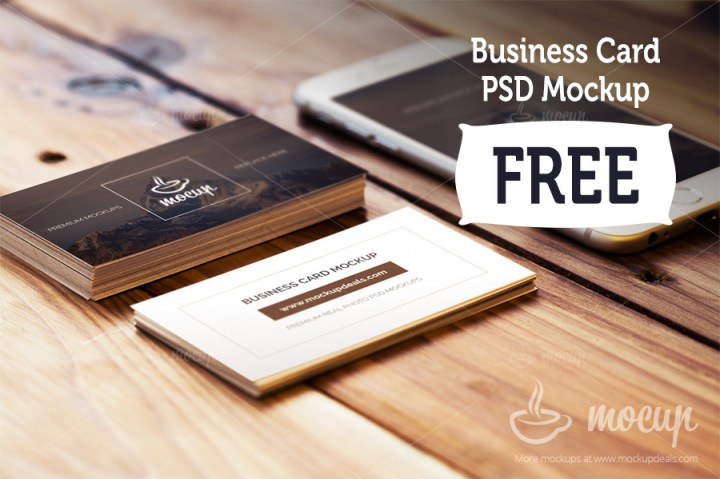 Business Card Mockups with iPhone 6