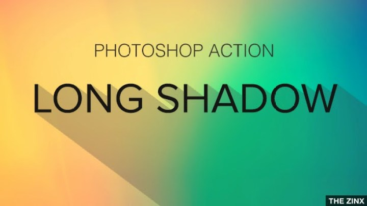 Long Shadow Photoshop Actions