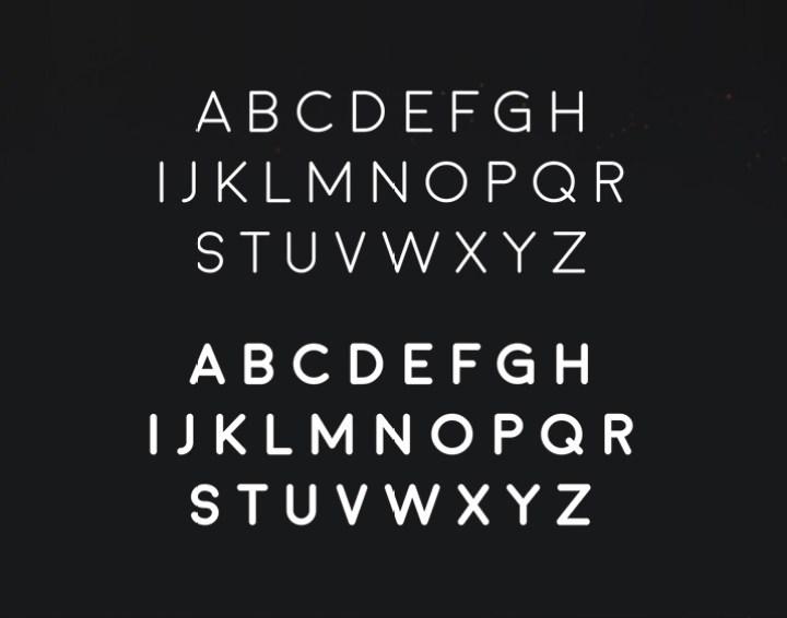 Moon Typeface 2