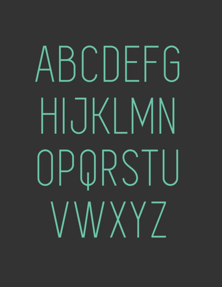 SIMPLIFICA Typeface 1