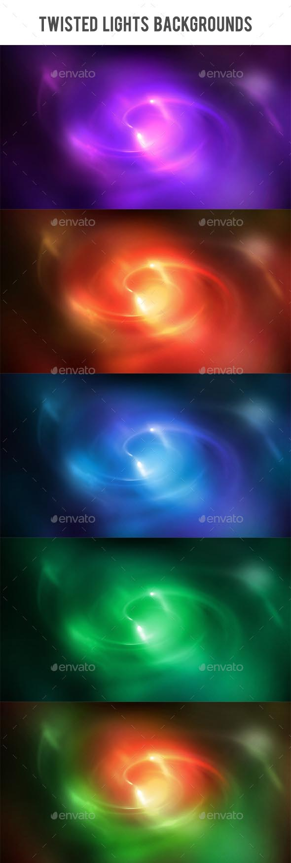 Twisted Lights Backgrounds