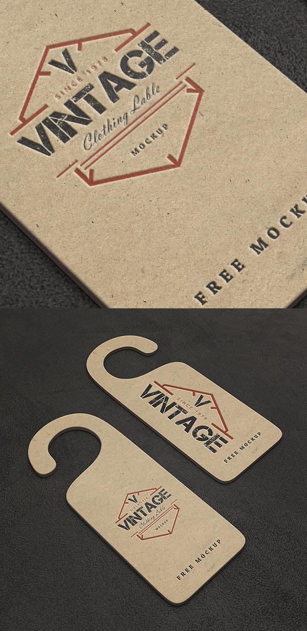 02_Free Vintage Label PSD Mockups