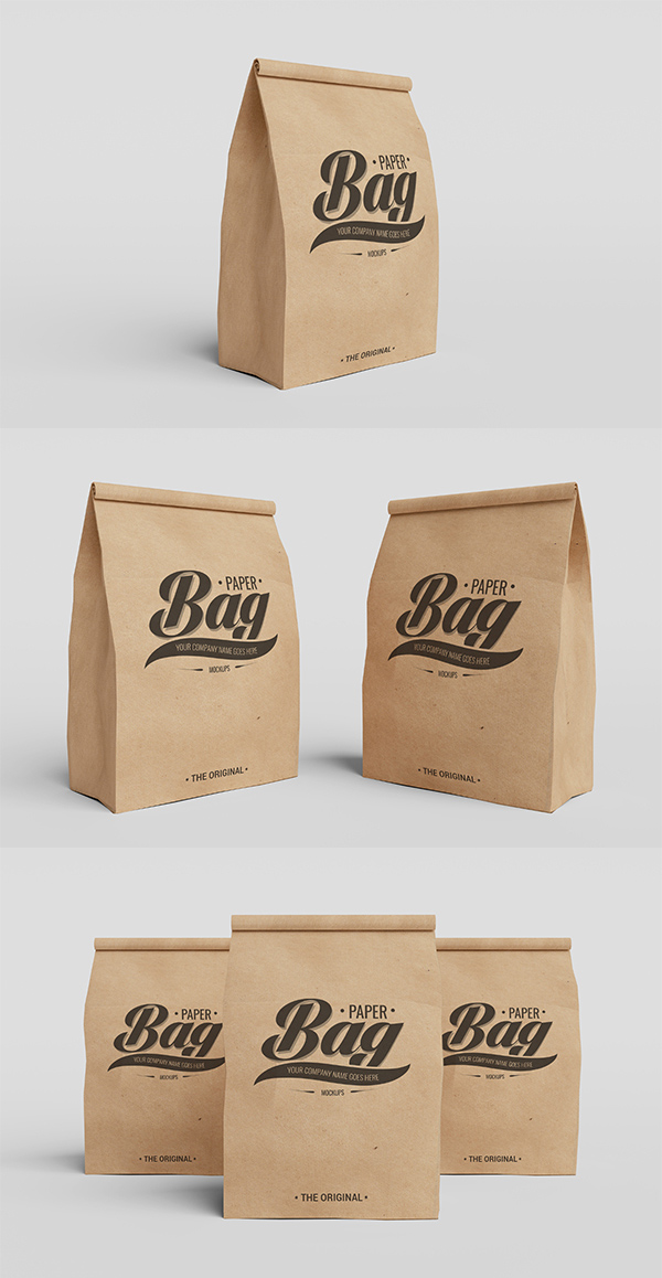 09_Packaging Paper Bag PSD Mockups