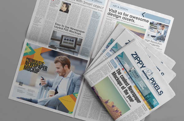 14_PSD Newspaper Advertisement Mockup