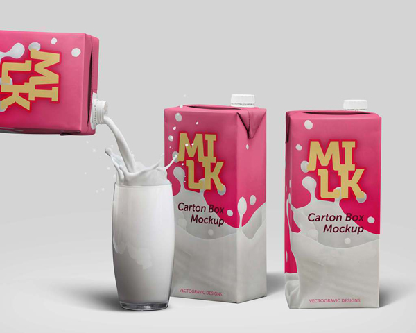 28_Milk Carton Box Mockup PSD